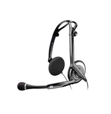 plantronics audio dsp 400 76921 11 binaural foldable stereo pc headset with usb connection