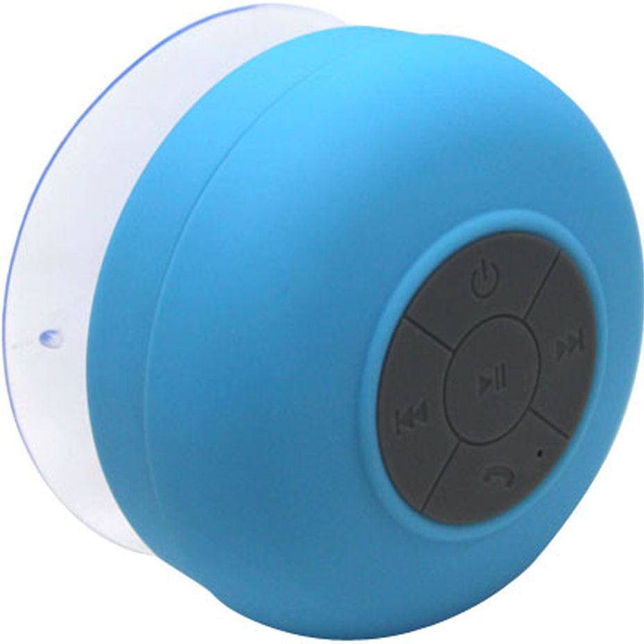 polaroid pbt620blue waterproof bluetooth shower speaker with build in microphone and