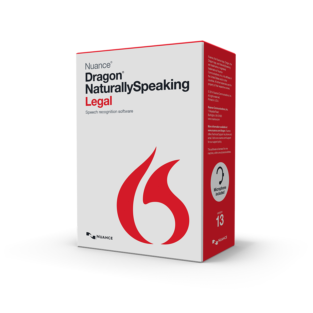 nuance 363323 dragon naturally speaking legal version 13 speech recognition software with