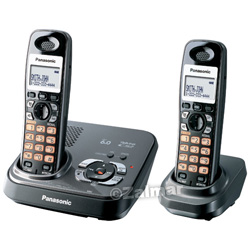 how to set clock panasonic phone