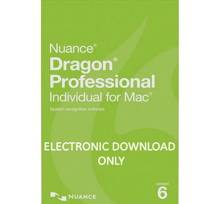 Nuance S601A-G00-6 0 Dragon Professional Individual for Mac Version 6  Speech Recognition Software Electronic Download